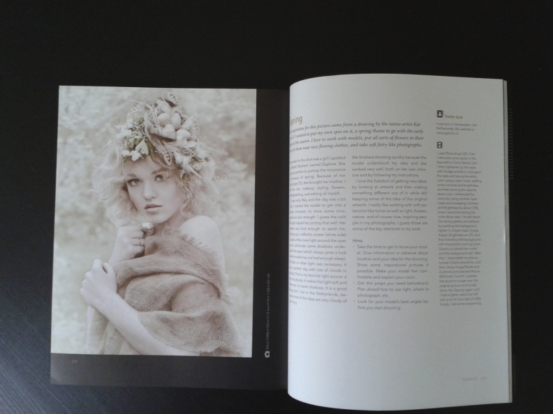 The page featuring the photograph and tutorial
